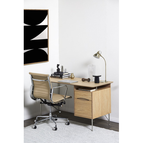 Milan Direct Eames Replica Leather Management Office Chair