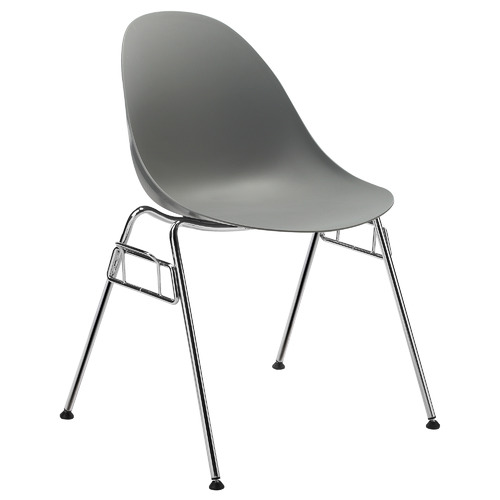 Milan Direct Grey Enigma Stackable Visitor Chairs