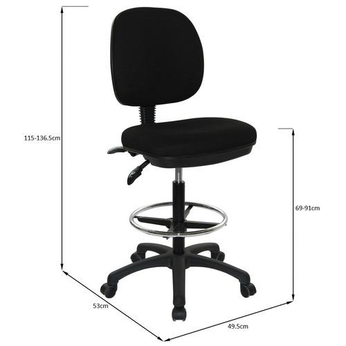 Milan Direct Medium Back Drafting Chair
