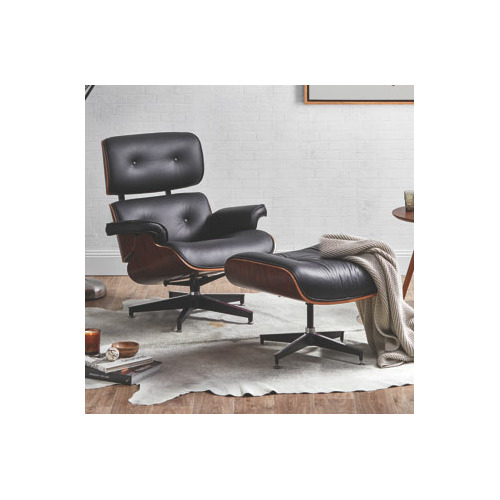 Milan Direct Eames Replica Leather Lounge Chair Ottoman Reviews Temple Webster