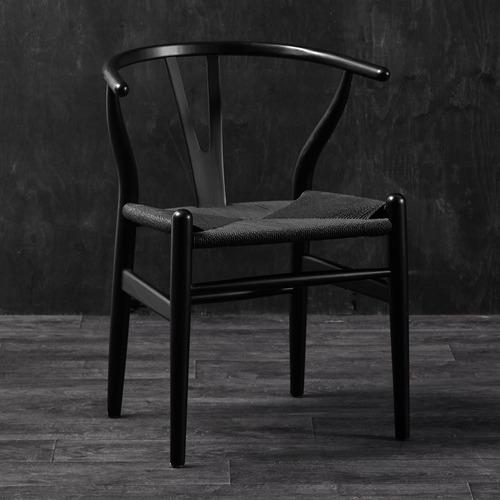 Milan Direct Black Hans Wegner Replica Wishbone Chairs