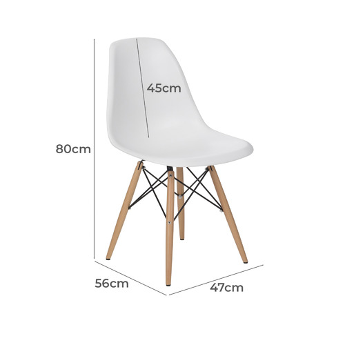 Milan Direct Eames Replica Dsw Dining, Eames Side Chair Replica