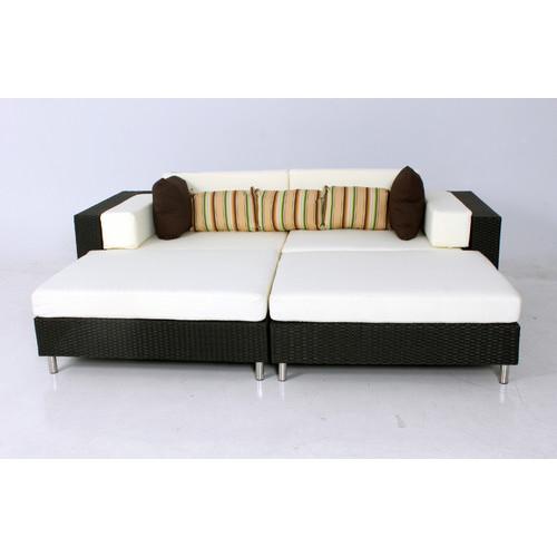 Naturally Provinicial 4 Piece Bronte Outdoor Modular Sofa Set