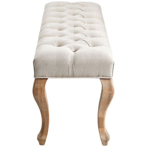 Naturally Provinicial Natural Emile Large Button Tufted Ottoman
