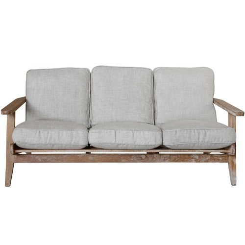 Naturally Provinicial Classic Leisure 3 Seater Solid Oak Sofa