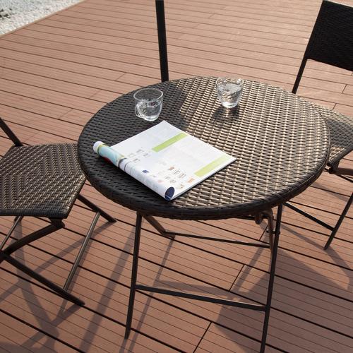 Naturally Provinicial 2 Seater Adela PE Rattan Outdoor Bistro Set