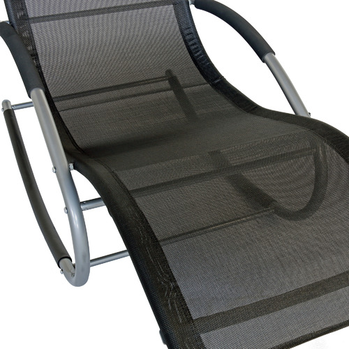Naturally Provinicial Morris Teslin Outdoor Rocking Lounge Chair