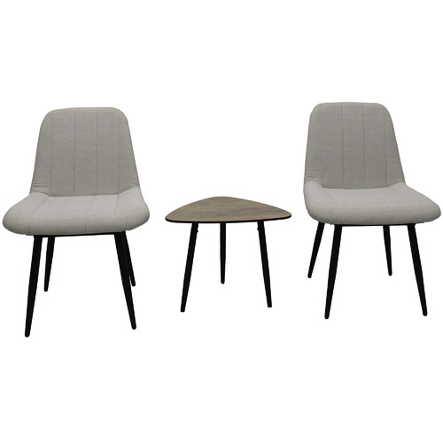 Naturally Provinicial Light Grey Oswald Outdoor Dining Chairs
