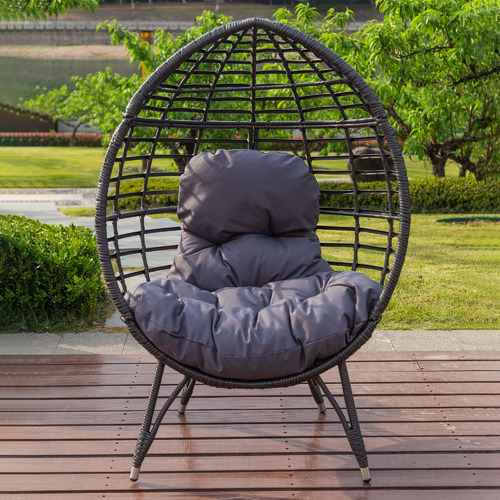 Charcoal Bourne Standing Outdoor Basket Chair