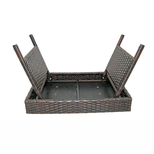 Rossi Rattan Foldable Outdoor Side Table