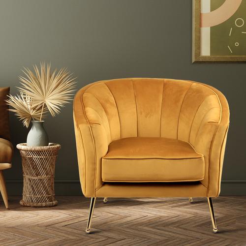 Argos Velvet Armchair