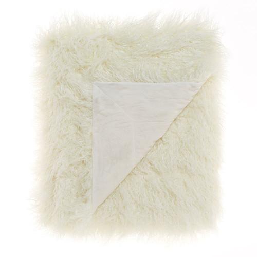 Linen House White Lark Throw
