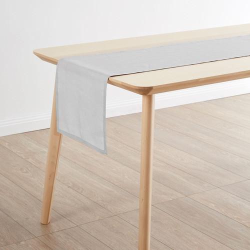 Linen House Nimes Pale Grey Table Runner