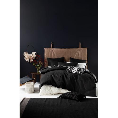 Naya Black Quilt Cover Set   Temple & Webster : black quilt covers - Adamdwight.com