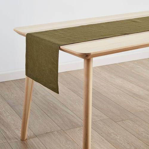 Linen House Olive Nimes Linen Table Runner