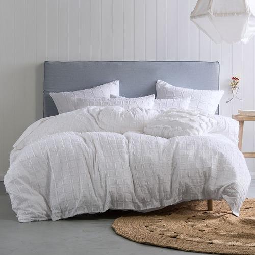 Linen House White Fergus Cotton Quilt Cover Set