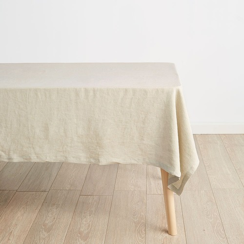 Linen House Natural Nimes Linen Tablecloth