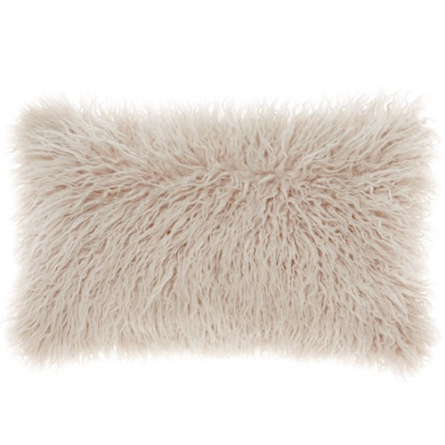 Linen House Lark Faux Fur Breakfast Cushion
