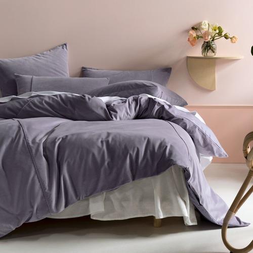 Linen House Lavender Deluxe Velvet Quilt Cover Set