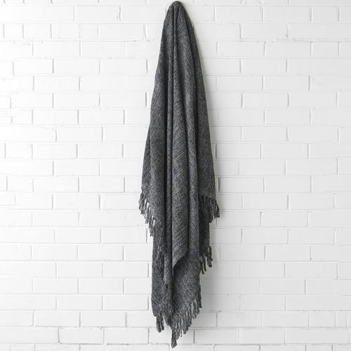 Linen House Winterfell Fringed Wool Blend Throw