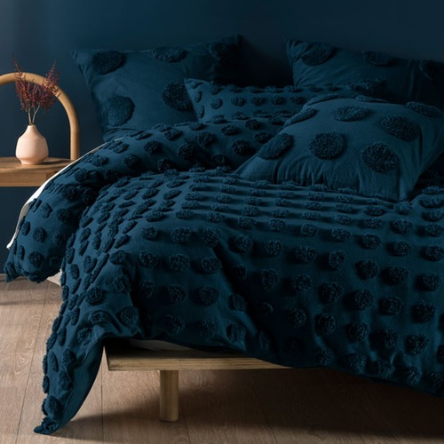 Linen House Teal Haze Cotton Cushion