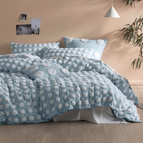Linen House Blue & White Haze Quilt Cover Set