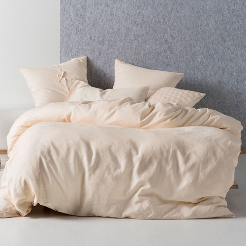 Linen House Peach Nimes Quilt Cover Set