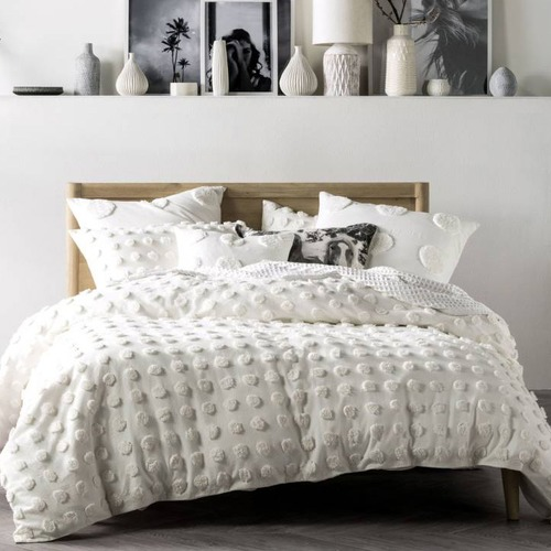 Linen House Cream White Haze Cotton Quilt Cover Set