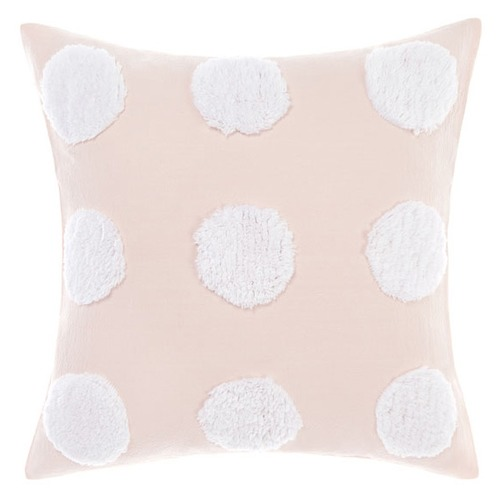 Linen House Pink & White Haze Cotton Cushion
