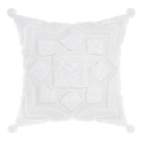 Linen House White Palm Springs Cotton Cushion