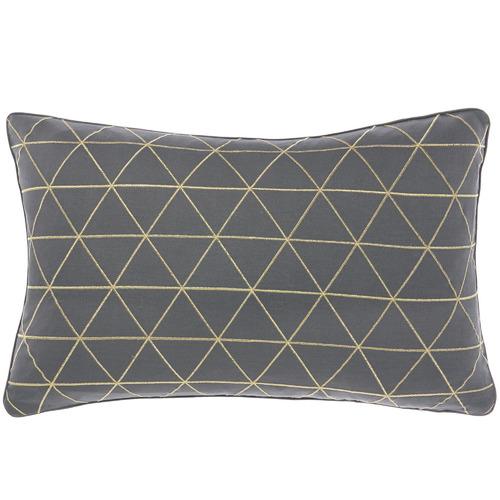 Linen House Geometric Everett Rectangular Velvet Cushion
