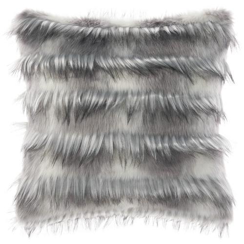 Linen House Tufted Merle Faux Fur Cushion