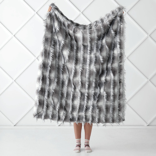 Linen House Tufted Merle Faux Fur Throw