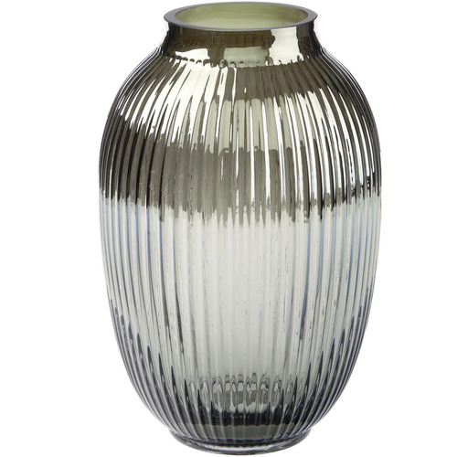 Linen House Silver Palazzo Glass Vase
