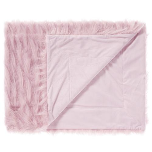Linen House Diamond Lyanna Faux Fur Throw
