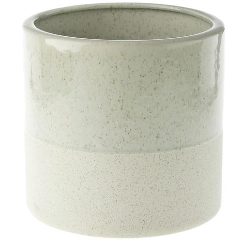 Linen House Green Caitlin Stone Planter Pot