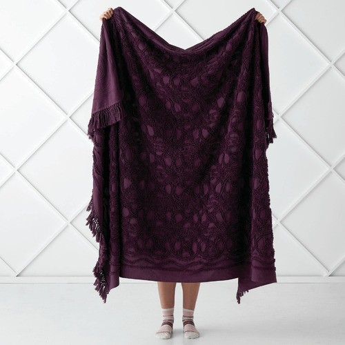 Linen House Fringed Somers Cotton Throw