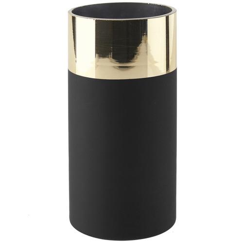 Linen House Black Manhattan Glass Vase