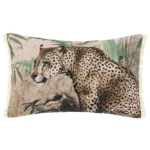 Linen House Jaguar Print Serengeti Rectangular Cushion