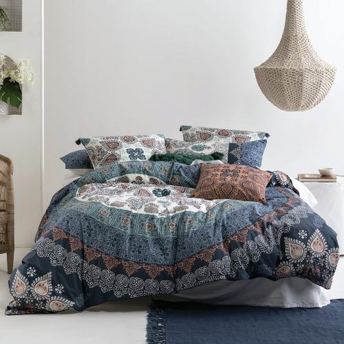 Linen House Tasselled Wategos Cotton Cushion