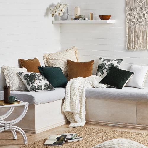 Linen House Kew Velvet Cushion