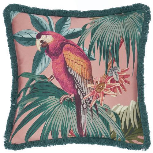 Linen House Teal Fernanda Cotton Cushion