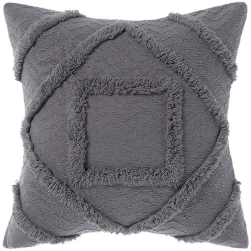 Linen House Charcoal Adalyn Cotton Cushion
