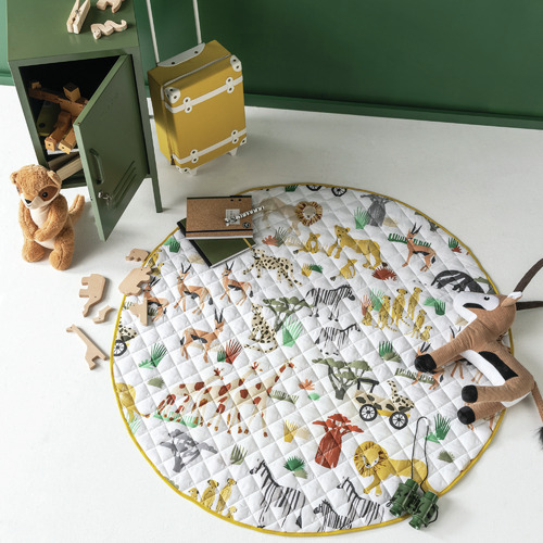 Linen House In With The Herd Reversible Cotton Playmat