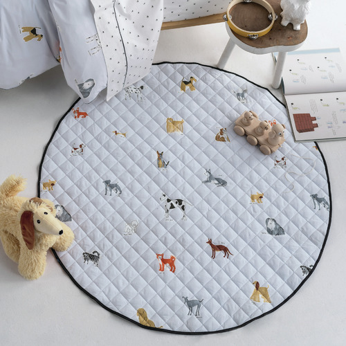 Linen House Blue Dogs For Days Reversible Cotton Playmat