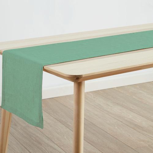 Linen House Sea Foam Nimes Linen Table Runner