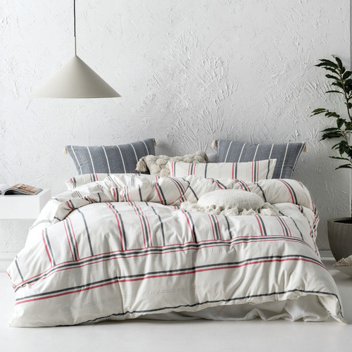 Linen House White Caspian Cotton Quilt Cover Set