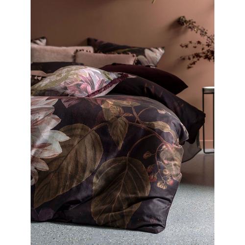 Linen House Wine Floral Neve Cotton Quilt Cover Set