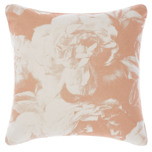 Linen House Peach Lena Cotton Cushion