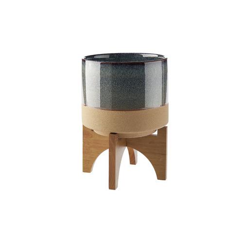 Linen House Splendor Stone Pot with Stand